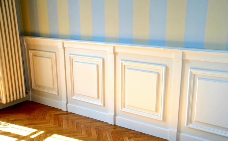 Boiserie zanfi pavimenti for Perline in legno per pareti prezzi